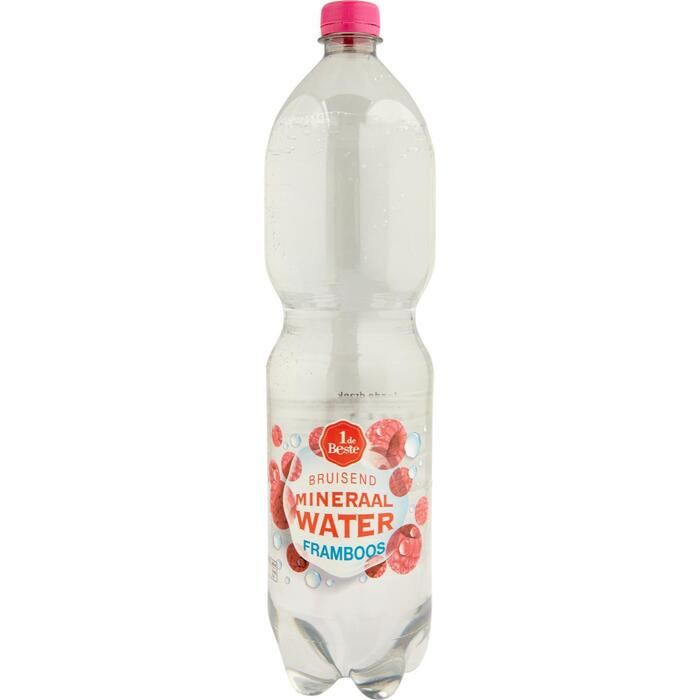 Bruisend mineraalwater framboos (1.5L)