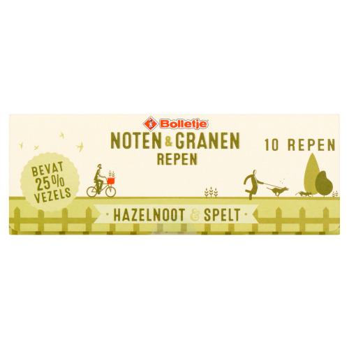 Bolletje Noten & Granen Repen Hazelnoot & Spelt 10 x 40 g (40g)