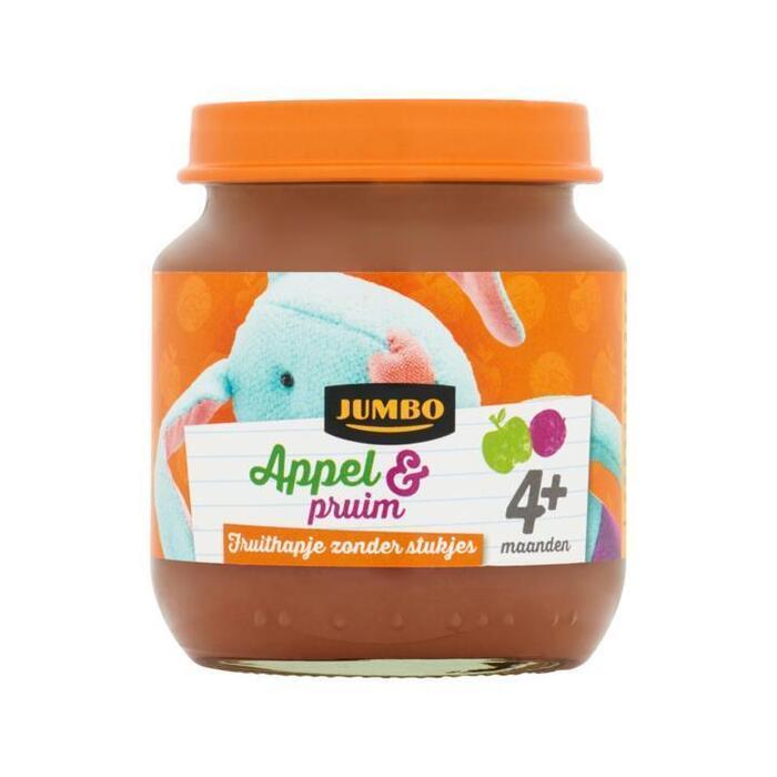 Jumbo Appel & Pruim 4+ Maanden 125 g (125g)