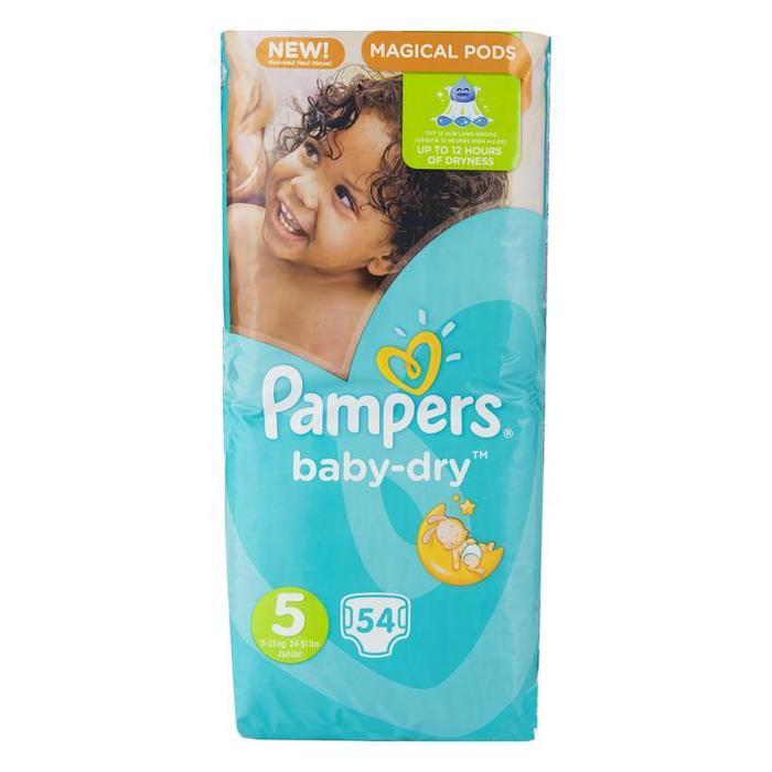 Pampers Luiers Pampers Baby Dry Maat 5  PAK (Stuk, 54 × 200g)