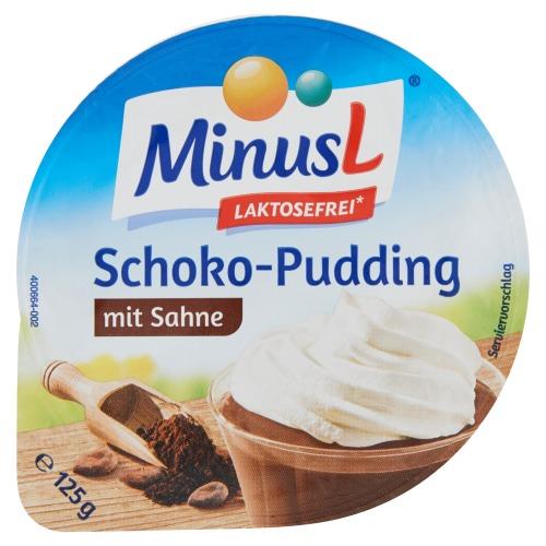 Schoko-pudding mit Sahne (125g)