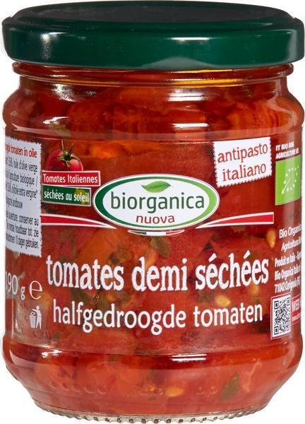 Halfgedroogde tomaten in olie (190g)
