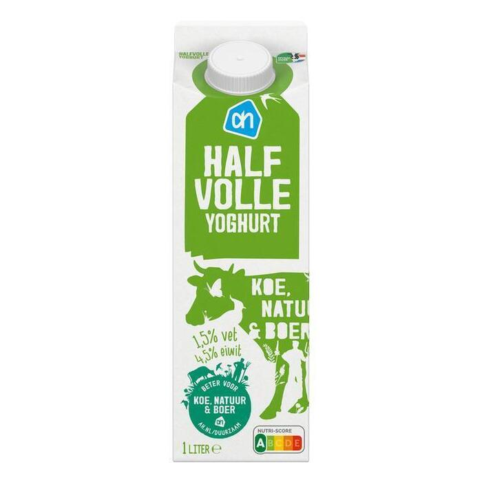 AH Milde yoghurt (halfvol) (1L)