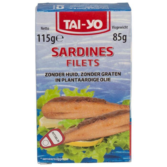 SARDINES Z. HUID & GR. OLIE (115g)