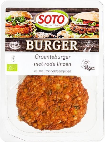 Groenteburger met rode linzen (160g)