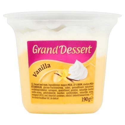 Grand dessert vanille (190g)