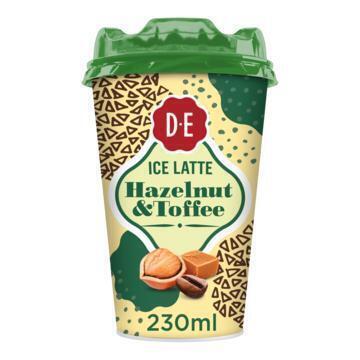 DOUWE EGBERTS KOFFIE KLAAR OM TE DRINKEN ICE LATTE HAZELNUT & TOFFEE 230ML CUP (230ml)