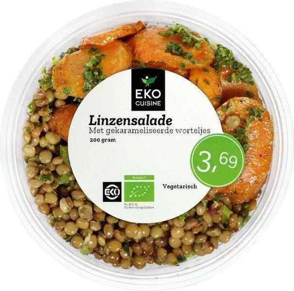 Linzensalade met gekarameliseerde wortel (200g)