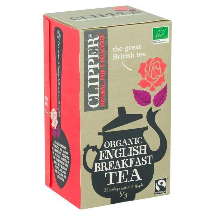 Clipper Organic English Breakfast Tea 20 Zakjes 50 g (20 × 50g)