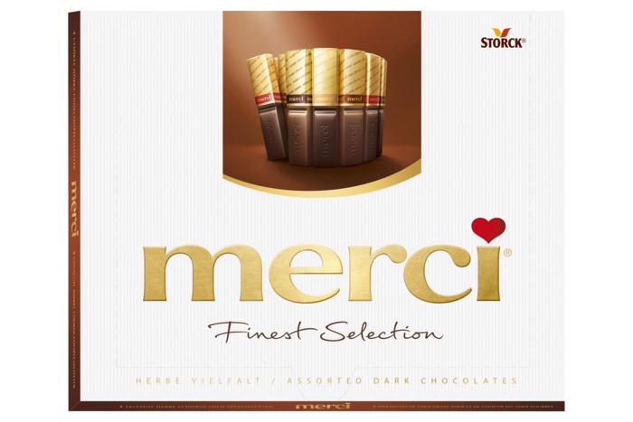 merci Finest Selection puur Chocoladeproducten / bon bons / bit 250 g Doos (250g)