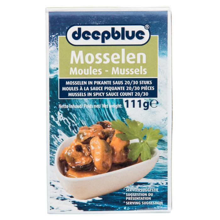 Deepblue mosselen in pikante saus 111g doosje (111g)