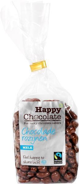 Chocolade rozijnen melk (zak, 200g)