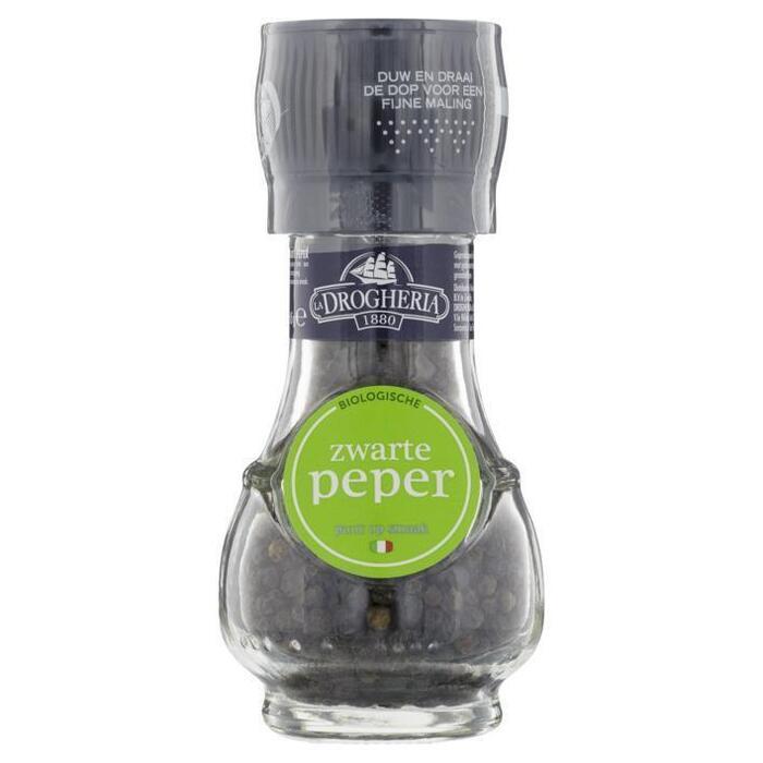 Biologische zwarte peper (molen, 45g)