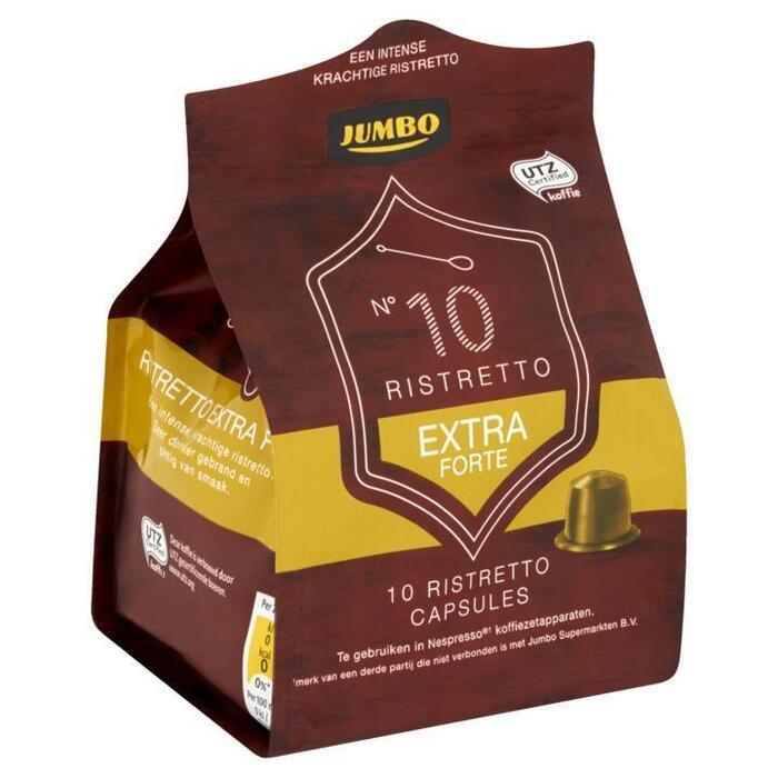 Jumbo N°10 Ristretto Extra Forte 10 Espresso Capsules 52g (52g)