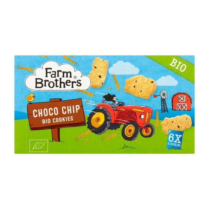 Farm Brothers Choco Chip Bio Cookies 6 Stuks 102 g (102g)