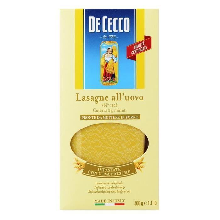 De Cecco Lasagne all'uovo n° 112 (500g)