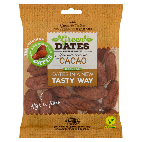 Green Dates Natural Coated Cacao 150 g (150g)