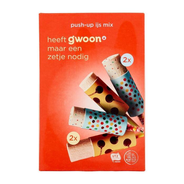 g'woon Push Up ijs mix 4 stuks (32cl)
