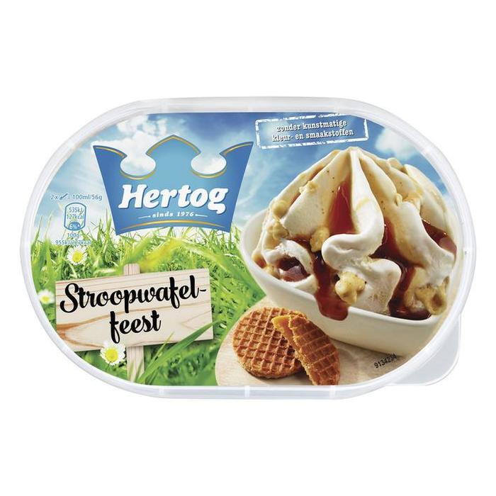 Stroopwafel-ijs (0.9L)