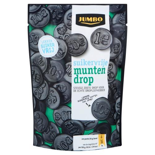 Jumbo Suikervrije Munten Drop 100g (100g)