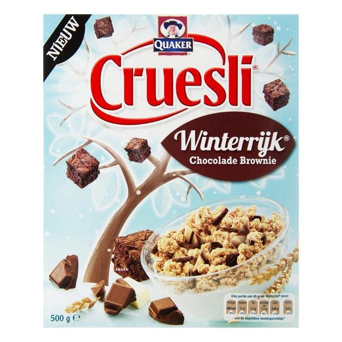 Quaker Cruesli Winterrijk Chocolade Brownie (doos, 500g)