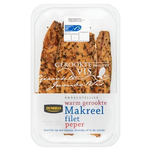 Jumbo Ambachtelijke Warm Gerookte Makreel Filet Peper ca. 275g