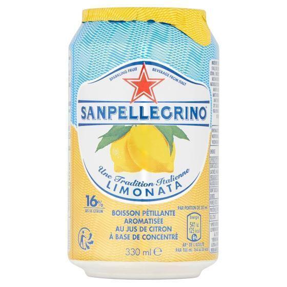 SANPELLEGRINO® Limonata Bruisende Vruchtendrank Blikje 0, 33L (rol, 33 × 33cl)