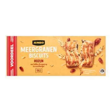 Jumbo Meergranenbiscuits op Zak Krenten-Rozijnen Voordeelverpakking 9 x 37,5 g (9 × 37.5g)