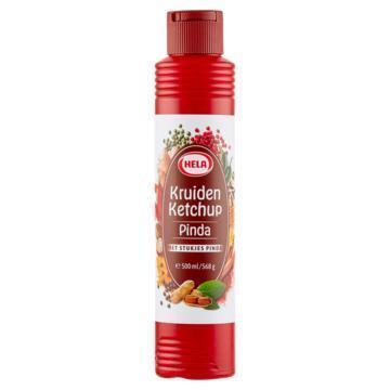 Hela Kruiden Ketchup Pinda 500ml fles (568g)
