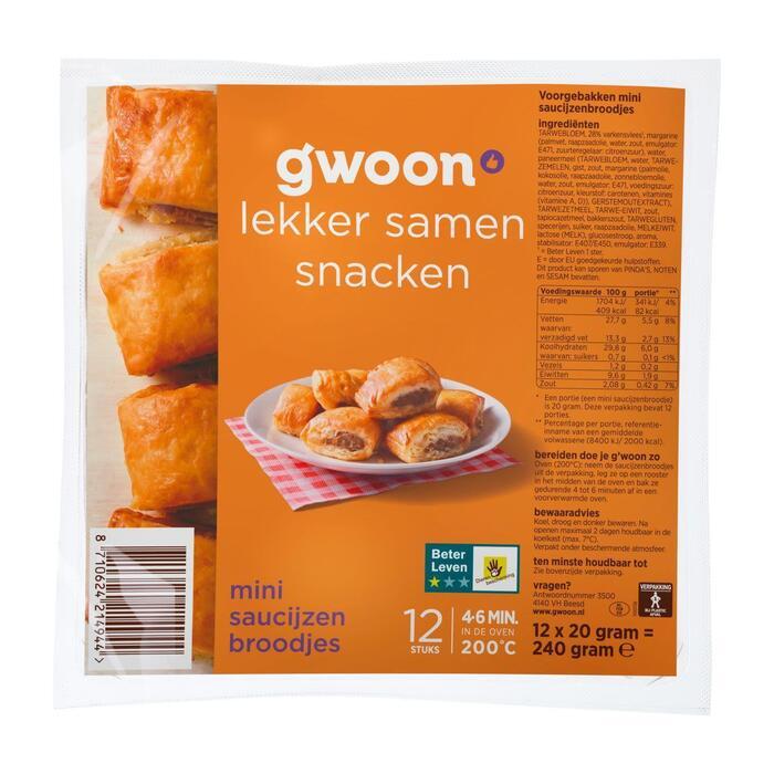 g'woon Mini saucijzenbroodjes (12 × 20g)