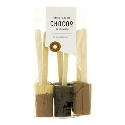 Chocolademelk lepels assorti (6 × 180g)