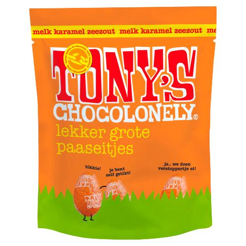 Tony's Chocolonely Eitjes zakje melk karamel zeezout (178g)