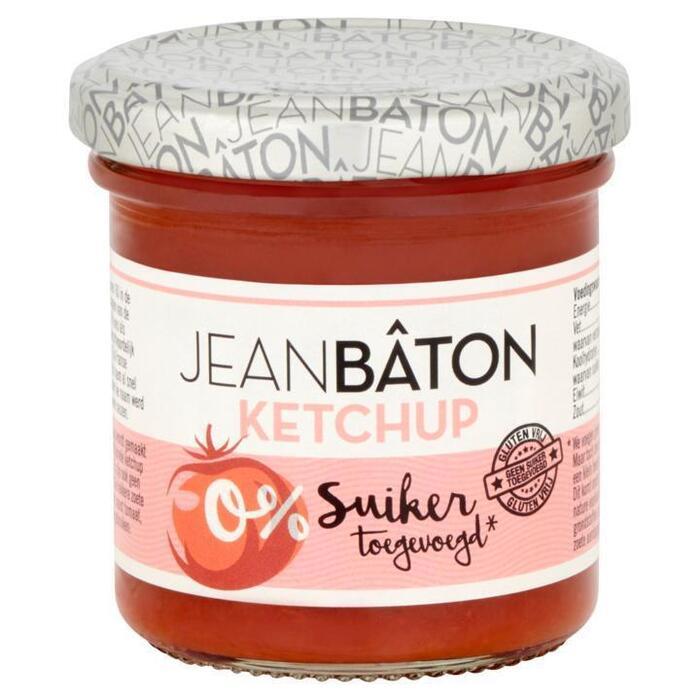 Jean Bâton Ketchup zonder suiker 135 ml Pot (135ml)