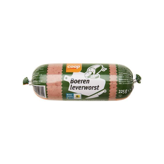 Coop Boeren leverworst (plastic, 225g)