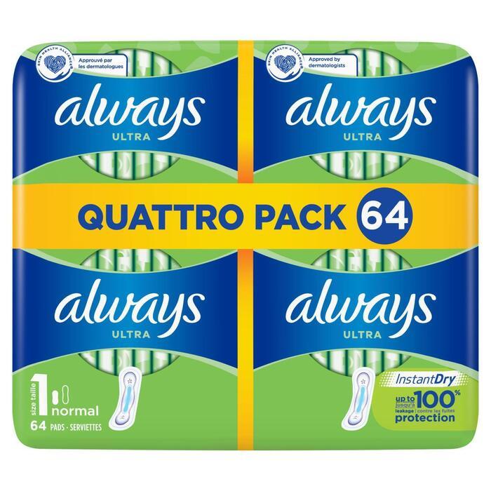 Maandverband ultra normal quattropack