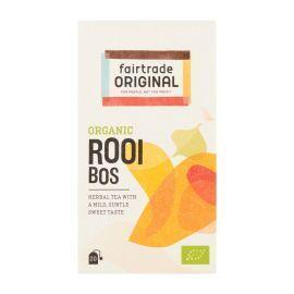 Fair Trade Original Thee Rooibos, biologisch, FT, 20x1,75grm (doos, 1.75g)