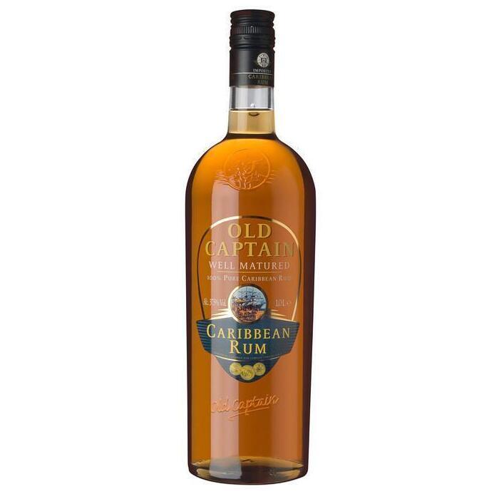 Old Captain Well matured Caribbean rum (rol, 100 × 1L)