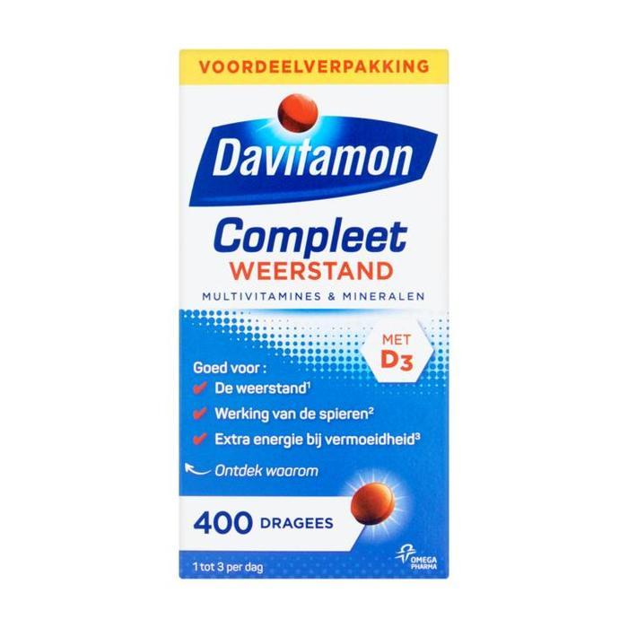 Davitamon Compleet Weerstand Multivitamines & Mineralen 400 Dragees Voordeelverpakking 203g (400 × 203g)