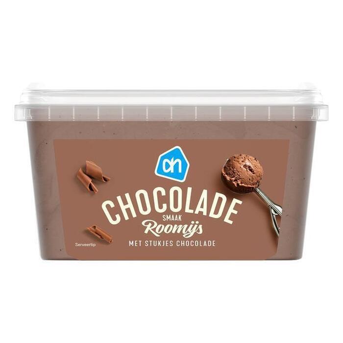 Chocolade roomijs (bak, 1L)