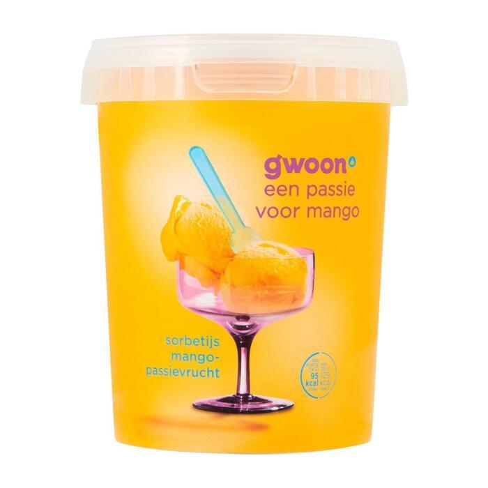 g'woon Sorbetijs mango maracuja (0.5L)