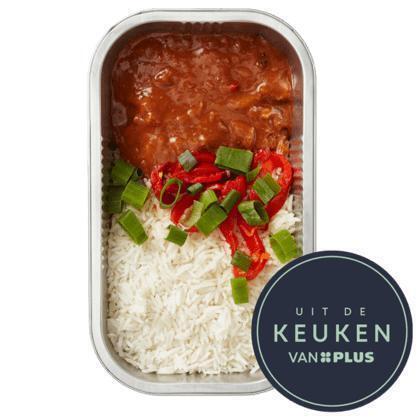 Goulash met witte rijst en paprika (450g)