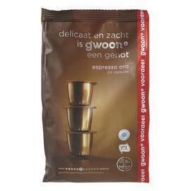 g'woon Espresso oro capsules sterkte 6 voordeelverpakking (24 × 5g)