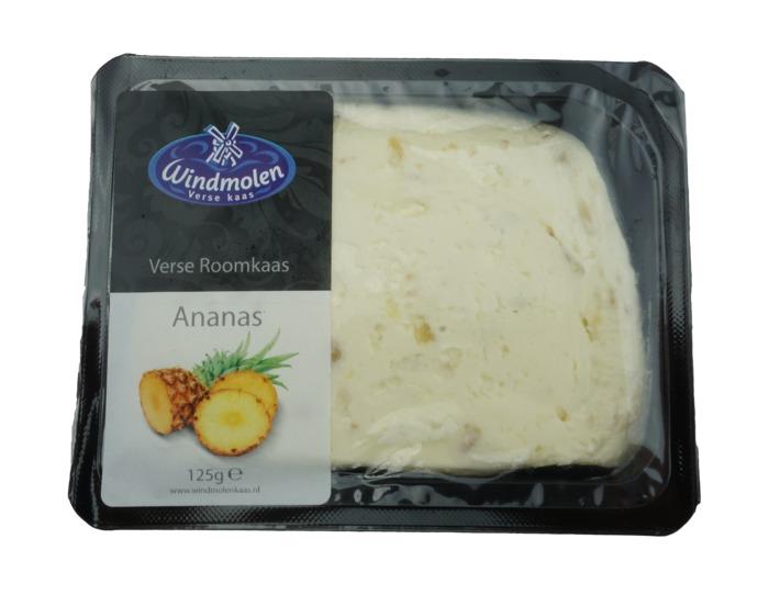 Windmolen Verse Roomkaas met Ananas 125 GRM tray (125g)