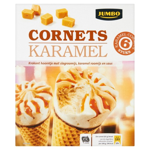 Cornets Caramel (6 × 100ml)