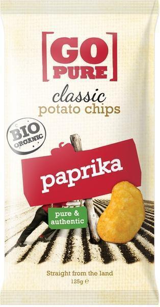Classic potato chips paprika (zak, 125g)
