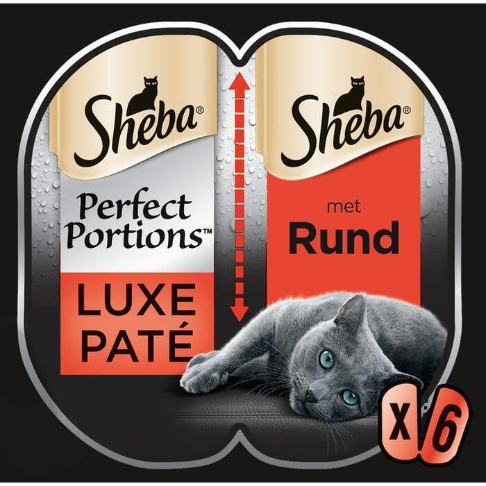 Sheba Perfect Portions Luxe Paté met Rund Duo Pack 225 g (6 × 225g)