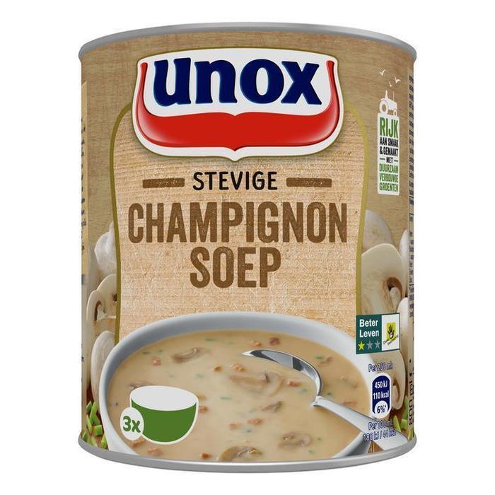 Unox Soep in Blik Stevige Champignonsoep (rol, 0.8L)