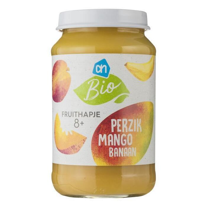 AH Biologisch Perzik mango banaan 8m06 (200g)