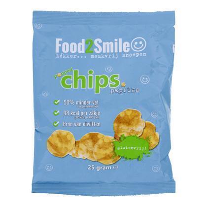 Food2Smile Chips Paprika Minder vet (25g)