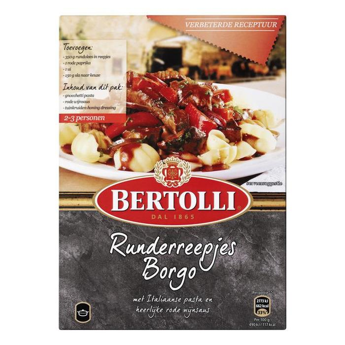 Bertolli WG Pasta Runderreepjes 265G 5x (265g)